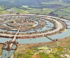 Resembles ancient Aztec city of Tenochtitlan on Lake Texacoco_ArtStation - Atlantis, Rocío Espín Piñar Fantasy City Map, Fantasy Places, Fantasy World, Atlantis, Environment Concept Art, Environment Design, Art Et Illustration, Fantasy Setting, Fantasy Landscape