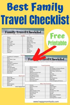 What to Pack for Family Vacation with a Family Travel Checklist. A free printable with everything you need to pack when traveling with kids. Stop forgetting things at home and spending money to buy them when you travel. Use this easy-to-follow checklist and be ready for a great Family Vacation. Travel Checklist, Travel Essentials, Travel Tips, Time Travel, Travel Ideas, Travel Destinations, Wisconsin Vacation, Wisconsin Dells, Best Family Vacations