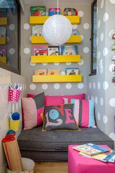 Reading Corner: 60 Decorating Ideas and How to Make - Home Fashion Trend Kids Decor, Diy Home Decor, Decor Ideas, Decorating Ideas, Living Room Decor, Bedroom Decor, Bedroom Ideas, Diy Casa, Little Girl Rooms