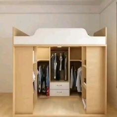 Home Discover Diy Furniture Small Spaces Extra Storage - New ideas Bedroom Closet Design Home Room Design Bedroom Closet Design, Home Room Design, Home Interior Design, Design Loft, Room Interior, Bedroom Boys, Simple Interior, Interior Office, Interior Modern