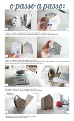DIY Coletivo: casinha de cimento  - The Blue Post