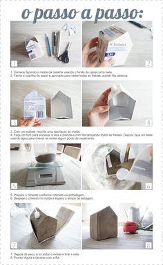 DIY Coletivo: casinha de cimento  - The Blue Post