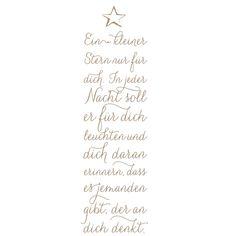Holzstempel: ein kleiner Stern nur für dich. In jeder Nacht soll er für dich leuchten und dich daran erinner, dass es jemanden gibt, der an dich denkt.