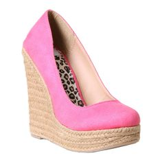 Espadrille #Wedges in #Pink