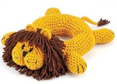 Into the Jungle Crochet Baby Toy lion