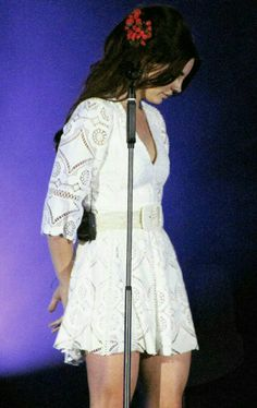 Lana Del Rey performing at Park Live music festival in Moscow #LDR