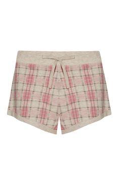 Pink Check Jersey Shorts £4