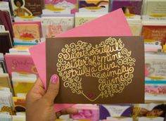 Andrea of FlyGirlBlog has a new Hallmark card with signature curly hair! I usually toss cards after a while, but would keep this one if someone gets this for me, it will be a keeper. hint-hint to my buds on Pinterest ;)