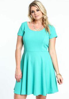City Chic - SWING SKATER DRESS - Women\'s plus size fashion | Chic ...