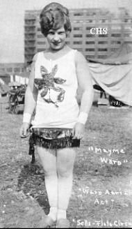 Like one of the Flying Bevans of Blood and Circuses.  Real life flier, Mayme Ward of the Ward flying act, 1927, Sells-Floto Circus