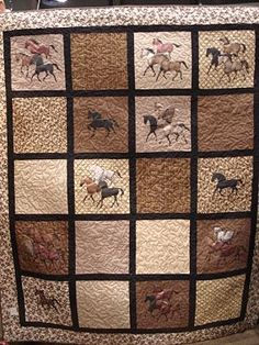 Horse Quilt. I think these are painted, but I'm using them as appliqué inspiration.