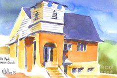 St Paul Lutheran 3 Painting by Kip DeVore