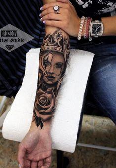 Girl Arm Tattoos, Girls With Sleeve Tattoos, Best Sleeve Tattoos, Dope Tattoos, Leg Tattoos, Body Art Tattoos, Tatoos, Forearm Tattoos For Men, Arm Tattos