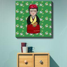 Lienzo Kokeshi Frida   Señor Cool