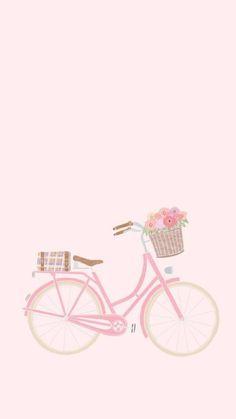 Flower Background Wallpaper, Cute Wallpaper For Phone, Cute Disney Wallpaper, Apple Wallpaper, Pastel Wallpaper, Cellphone Wallpaper, Wallpaper Backgrounds, Iphone Wallpaper, Bicycle Wallpaper