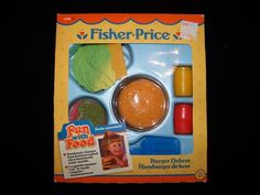 I made and re-made this hamburger, oh, maybe a million times in my Fisher-Price kitchen.