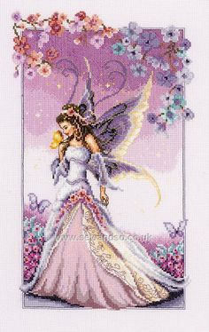 Lilac Fairy  http://www.sewandso.co.uk/Products/Lilac-Fairy-Cross-Stitch-Kit__VER-PN-0145024.aspx