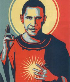 Obama Christ by  Michael D'Antuono