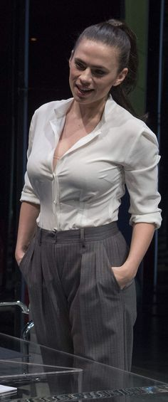If Hayley only wasn't wearing that bra---then we could lustfully ogle those girlpillows rolling around in that shirt. Hailey Baldwin, Beautiful Celebrities, Beautiful Actresses, Hollywood Actresses, Actors & Actresses, Hayley Elizabeth Atwell, Hayley Atwell Peggy Carter, Actress Hayley Atwell, Hayley Attwell