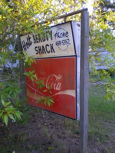 Holt GA Irwin County Coca-Cola Sign Beauty Shack Hutto Family Local Landmark Pictures Photo Copyright Brian Brown Vanishing South Georgia US...