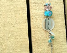 Imagine - Pink and Blue Beaded Tassel Necklace
