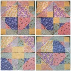 Disappearing 9 Patch Quilt Block – Criss Cross Cut
