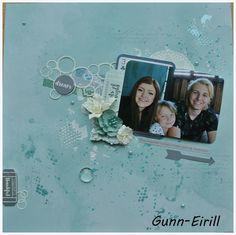 Gunn-Eirill`s Paper Magic: Mixed media light layout
