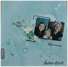 Gunn-Eirill`s Paper Magic: Mixed media light layout