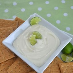 Key Lime Pie Dip- tastes just like key lime pie, but in a simple dip recipe. Great for spring and summer gatherings!