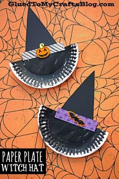 Paper Plate Witch Hat - Kid Craft We make Halloween crafts simple here on Glued To My Crafts! Just check out my latest Paper Plate Witch Hat kid craft tutorial to see what I'm talking about. Halloween Crafts For Toddlers, Paper Plate Crafts For Kids, Hat Crafts, Daycare Crafts, Fall Crafts For Kids, Paper Crafts For Kids, Halloween Activities, Toddler Crafts, Preschool Crafts