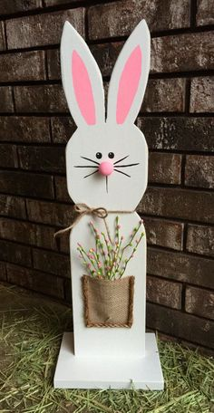 25 Wooden Bunny by MySalvagedStyle on Etsy