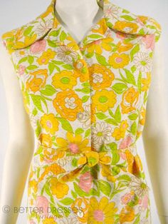 70s Yellow Floral Top and Shorts Cotton Play Set - med