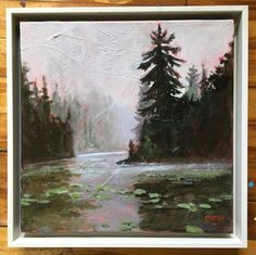 Auction item 'Pink Pond by Holly Friesen' hosted online at 32auctions.