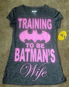 New Training to be Batman's Wife Womens Juniors Gray Athletic Shirt