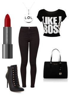 """""""Untitled #1"""" by daphinemcbryde ❤ liked on Polyvore featuring BCBGMAXAZRIA, American Apparel and MICHAEL Michael Kors"""