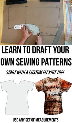 Learn to draft a custom knit top from any measurements! It's easier than you might think!