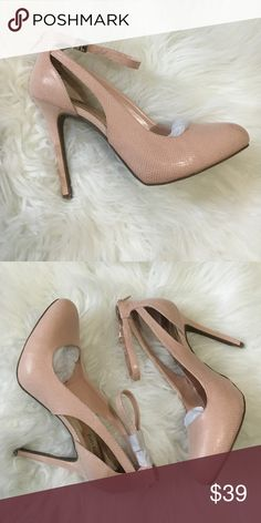 Brand new blush pink pumps Brand new ankle strap blush pink heels comes with box!! Size 9 1/2 Jennifer Lopez Shoes Heels