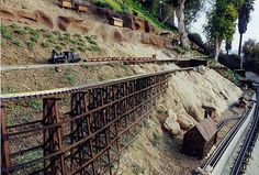 G Scale train layout on a hill - OK, not going to happen at my house, but still pretty neat!