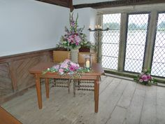 The registrar table in the Bathing Hut - Cornwall Weddings at Pentillie Castle