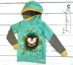 Hoodie Igel - Gr. 104 :: Freigeist - kreatives Handwerk Hoodies, Baby, Free Spirit, Creative Crafts, Kids Clothes, Hedgehogs, Ghosts, Sweatshirts, Babies