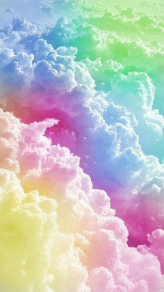 Colourful rainbow clouds smartphone wallpaper - samsung galaxy or apple iphone cute wallpapers, pretty backgrounds Tumblr Wallpaper, Wallpaper Pastel, Rainbow Wallpaper, Cute Wallpaper Backgrounds, Wallpaper Iphone Cute, Pretty Wallpapers, Galaxy Wallpaper, Aesthetic Iphone Wallpaper, Disney Wallpaper