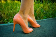 shoes, туфли, оранжевый цвет