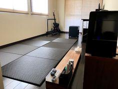 市松ブラックのモダンでかっこいいお部屋 Tatami Room, Tile Floor, Flooring, Japanese, Japanese Language, Tile Flooring, Wood Flooring, Floor, Washitsu