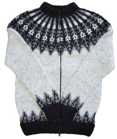 Icelandic Wool Sweater Hand knitted with 100% pure Icelandic Wool