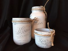 A personal favorite from my Etsy shop https://www.etsy.com/listing/255151947/set-of-white-mason-jars-bathroom-set