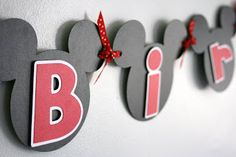 KT Designs: {Birthday Series} Mickey Mouse Banner