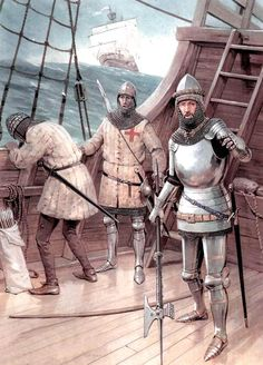 English troops crossing the English Channel, Hundred Years War