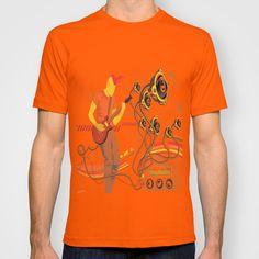 GuitarMan Sound Space T-shirt by maxvision Orange, Space, Medium, Tees, Mens Tops, T Shirt, Floor Space, Supreme T Shirt, T Shirts