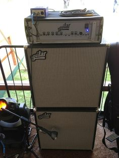 Aguilar bass rig that kills it.