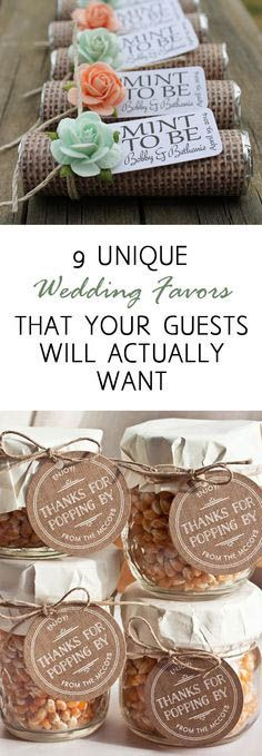 9 really cool and unique wedding favors that your guests will actually want!